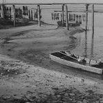 Bootje aangemeerd 3 dec 1945. foto; Breyer