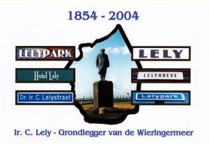 Ansichtkaart Cornelis Lely 1854 2004