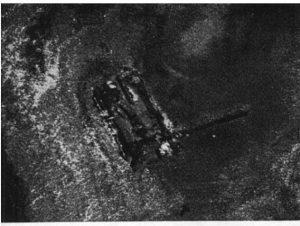 Luchtfoto van kerkje Gawijzend dertiger jaren