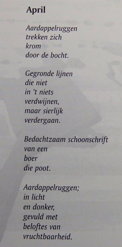 Gedicht April, Hans de Bondt