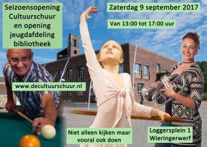 9 september 2017 Seizoensopening De Cultuurschuur Wieringerwerf