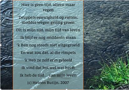 Fragment uit Herfst, gedicht van Heleen Butijn, 2007