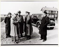 Bezoek Klaus Barbie en Willy Lages aan Joods Werkdorp Nieuwesluis, 1941.