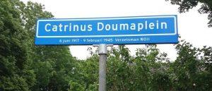 Straatnaambord Catrinus Doumaplein