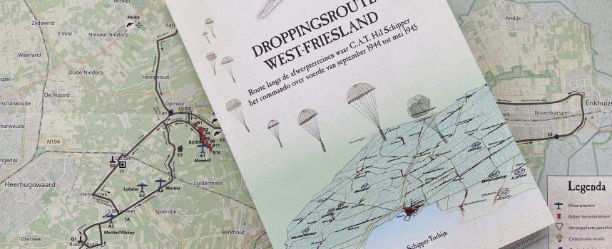 Boek en kaart Droppingsroute West-Friesland 1944/45