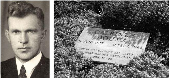 Catrinus Douma, 1917-1945, ligt begraven op de Eerebegraafplaats Bloemendaal